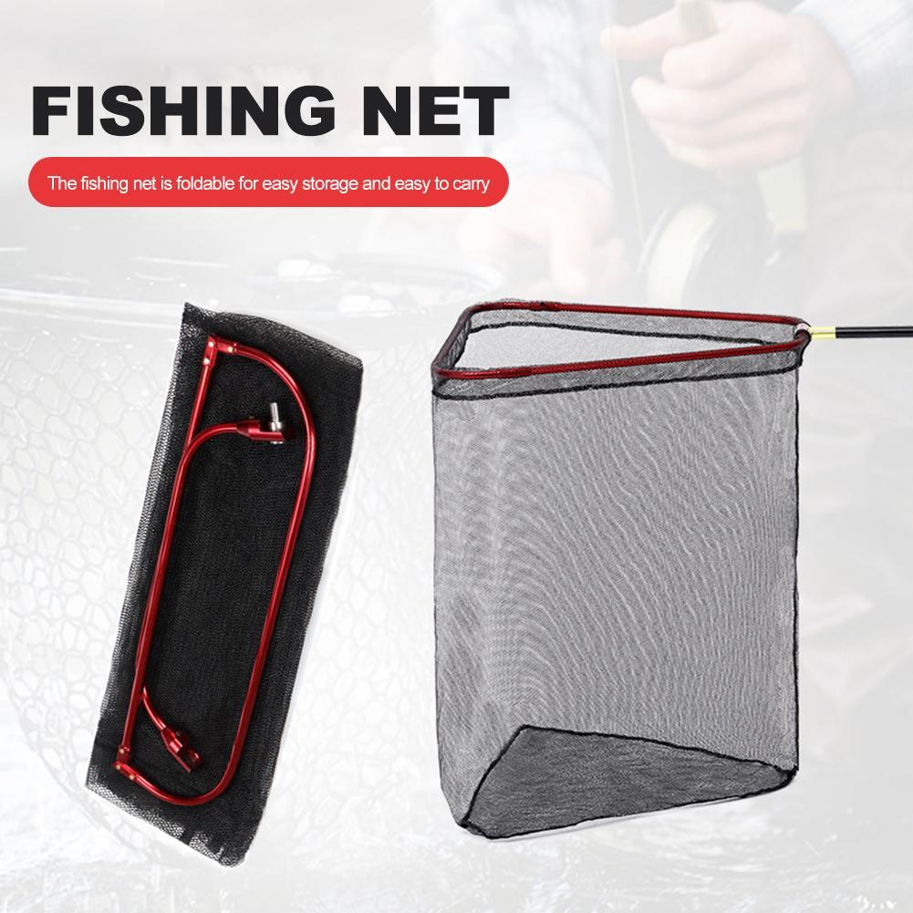 Nouveau pliant Triangle filet de pêche Portable approfondi matériel de pêche filet sac Super fort robuste une pièce filet datterrissage en gros