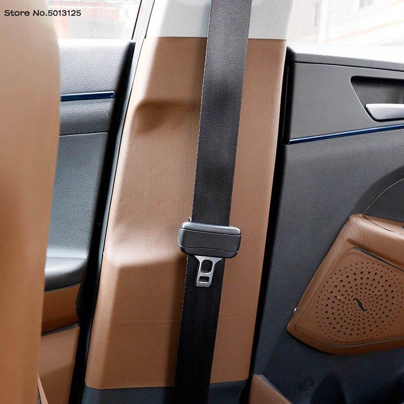 Pilar do carro b anti-kick protetor esteira cinto de segurança almofada capa de couro adesivos para hyundai tucson 2020 2019 2018 2017 2016 2015