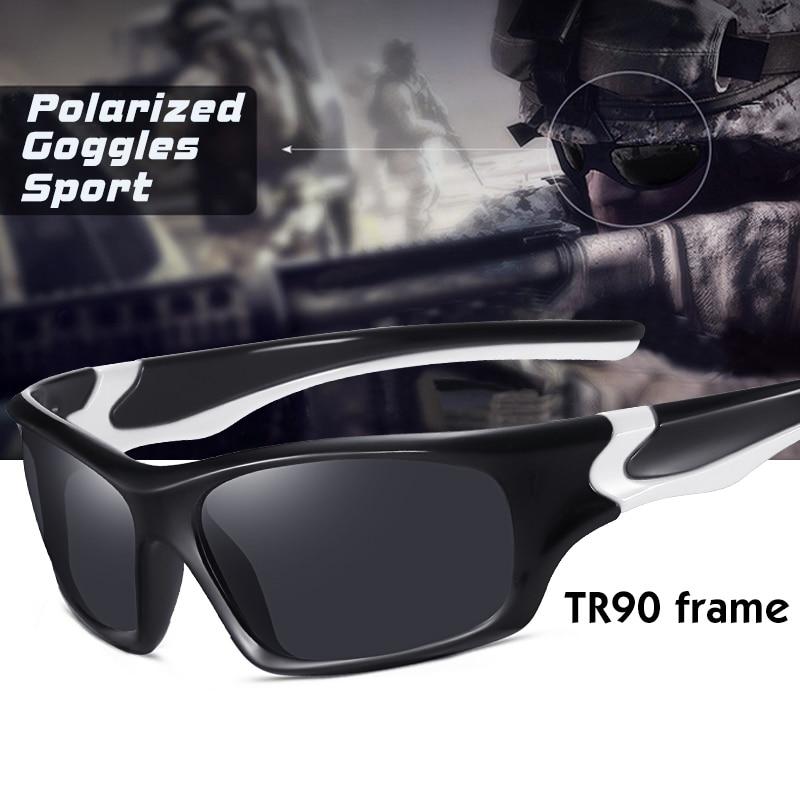 Ultralight TR90 frame Windproof Sport Polarized Sunglasses Men Driving Sun Glasses Military Goggles