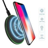 lobkin 10w fast wreless charger for samsung galaxy s10 s20 s9 note 10 9 usb qi charging pad for iphone 11 pro xs max xr x 8 plus