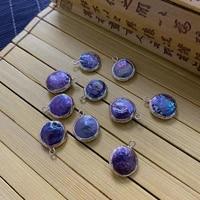 natural freshwater pearl pendant black irregular round shape gold edge making fashion jewelry decoration accessories wholesale