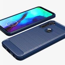 Silicone Case For Motorola Edge+ Moto G Stylus E7 G7 Plus Cases Cover Shockproof Cabon Fiber TPU Case For Moto G Power G7 Play