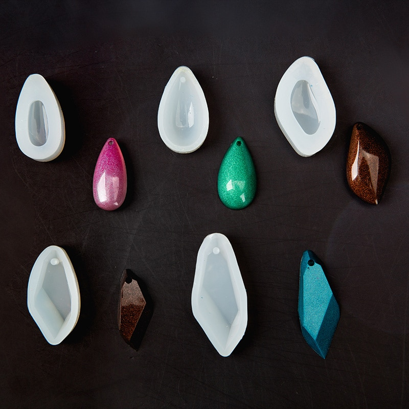 DIY Craft S Shape Silicone Pendant Water Drop Gem Mold Resin Casing Jewelry Handmade Tool Epoxy Molds