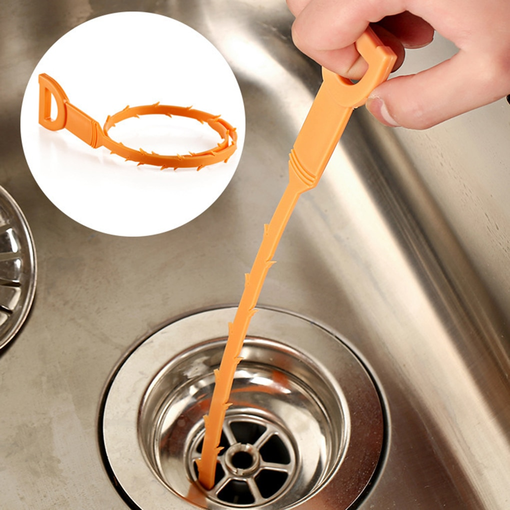 Hot Tube Drainage Pipe Sewer Clean Hook Pipeline Dredge Device kitchen plastic strip tool
