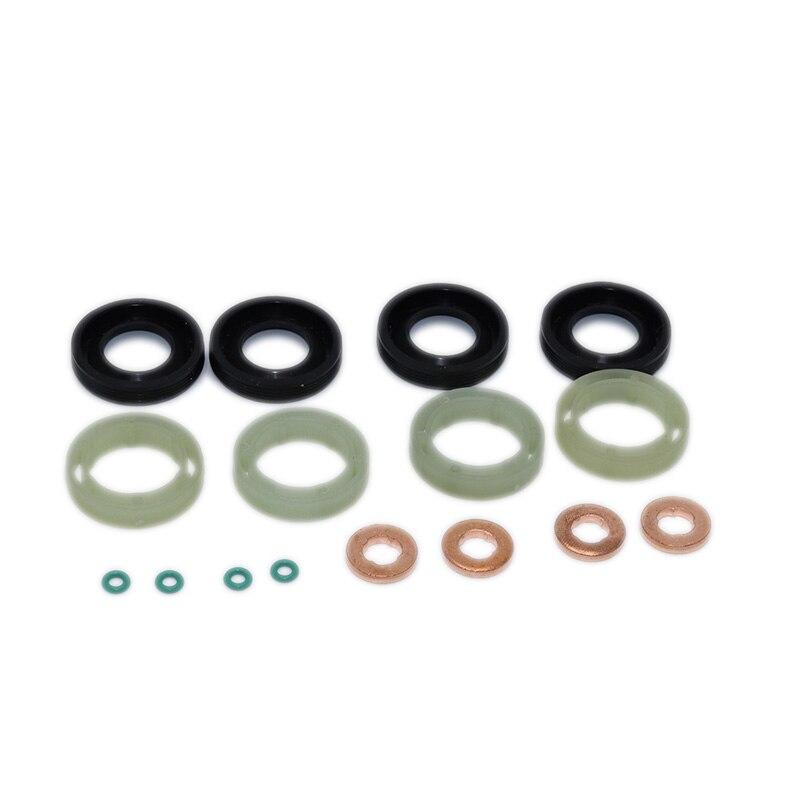 Kit de arandela de sellado junta de goma de reparación de motor O Protector para anillo inyector de combustible para CITROEN BERLINGO C3 C4 C5 DISPATCH XSARA 1,6 HDI