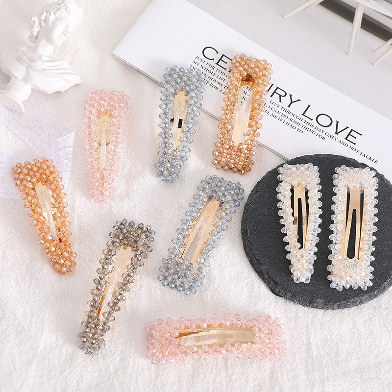 Jóias de Cabelo Coreano Cristal Hairpins Feminino Moda Ouro Grampos Casamento Nupcial Tiara Acessórios 20 Pçs