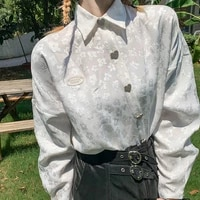 jacquette white french shirt women design small crowd long sleeved shirt early spring top women retro womans tops