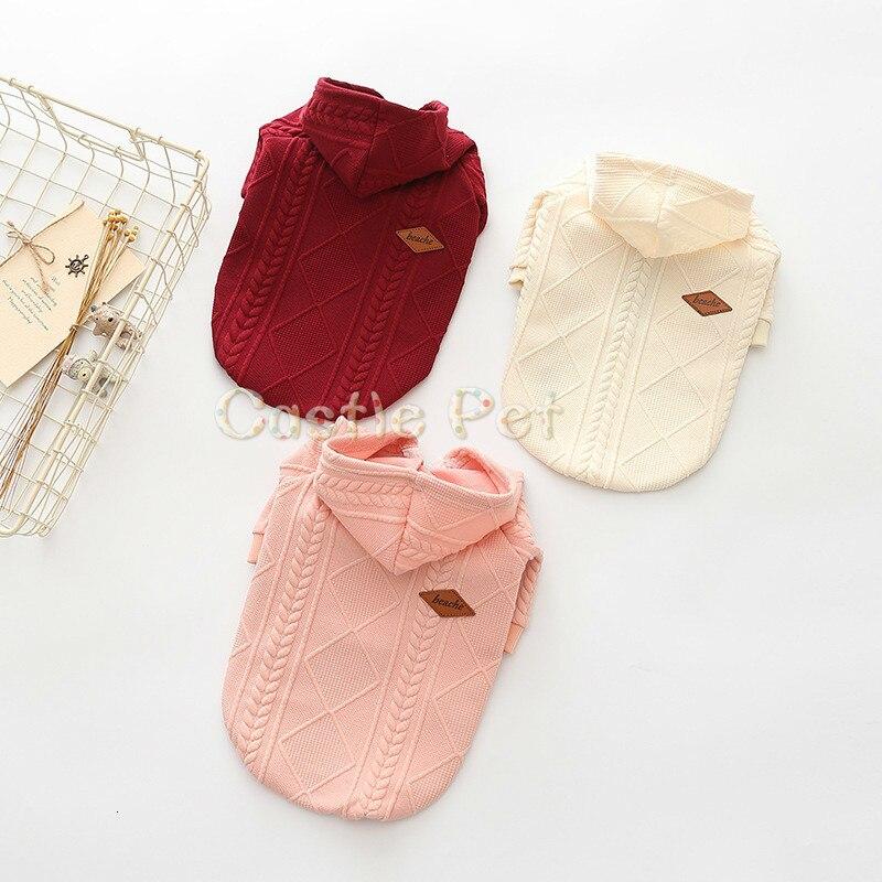 Suéter de perro Adorable, ropa cálida de invierno para cachorros, suéter de punto, chaqueta para perro Chihuahua Teddy Bulldog Schnauzer