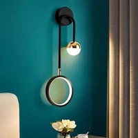 modern wall lamp retro minimalist background light stairwell aisle personalized bedroom bedside nordic creative led wall lamps