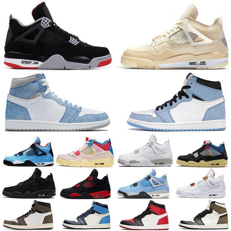 Sail Black Cat Oreo University Blue 4 4s Mens Basketball Shoes 1 1s Guava Ice Noir Patina Hyr Royal