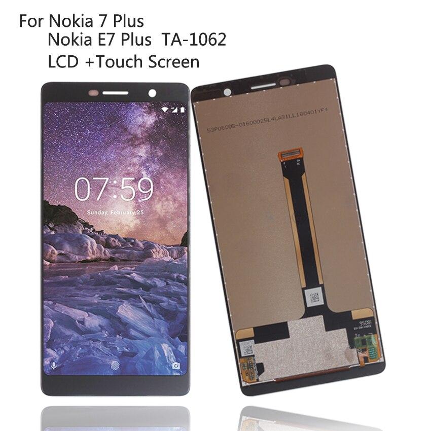 Piezas de repuesto originales para Nokia 7 Plus, 7 Plus, pantalla LCD Digitalizador de pantalla táctil para Nokia E7 Plus, pantalla LCD ta-1062