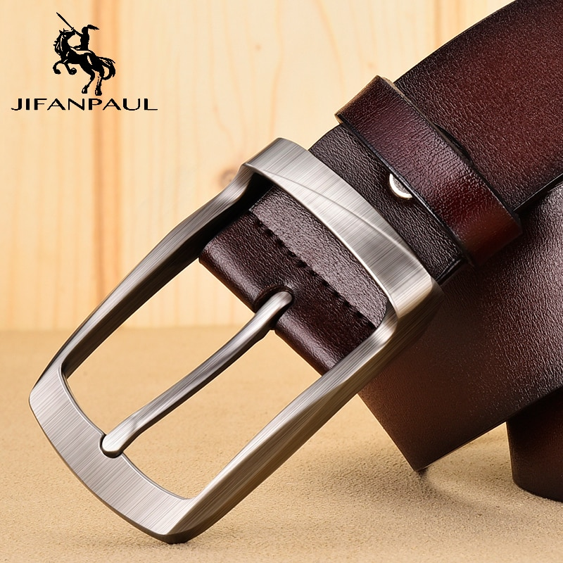JIFANPAUL  mens business retro fashion belt alloy material pin buckle with trend jeans students high quality free shipping