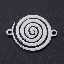 5 pièces/lot 100% acier inoxydable tourbillon breloques en gros Bracelets pendentifs Top qualité bricolage collier Bracelet faisant des breloques
