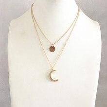 Трендовое золотое покрытие, прозрачный камень, брусчатка, Зодиак, подвеска, многослойное ожерелье для женщин, для девушек, небесное, Behemia, ши...