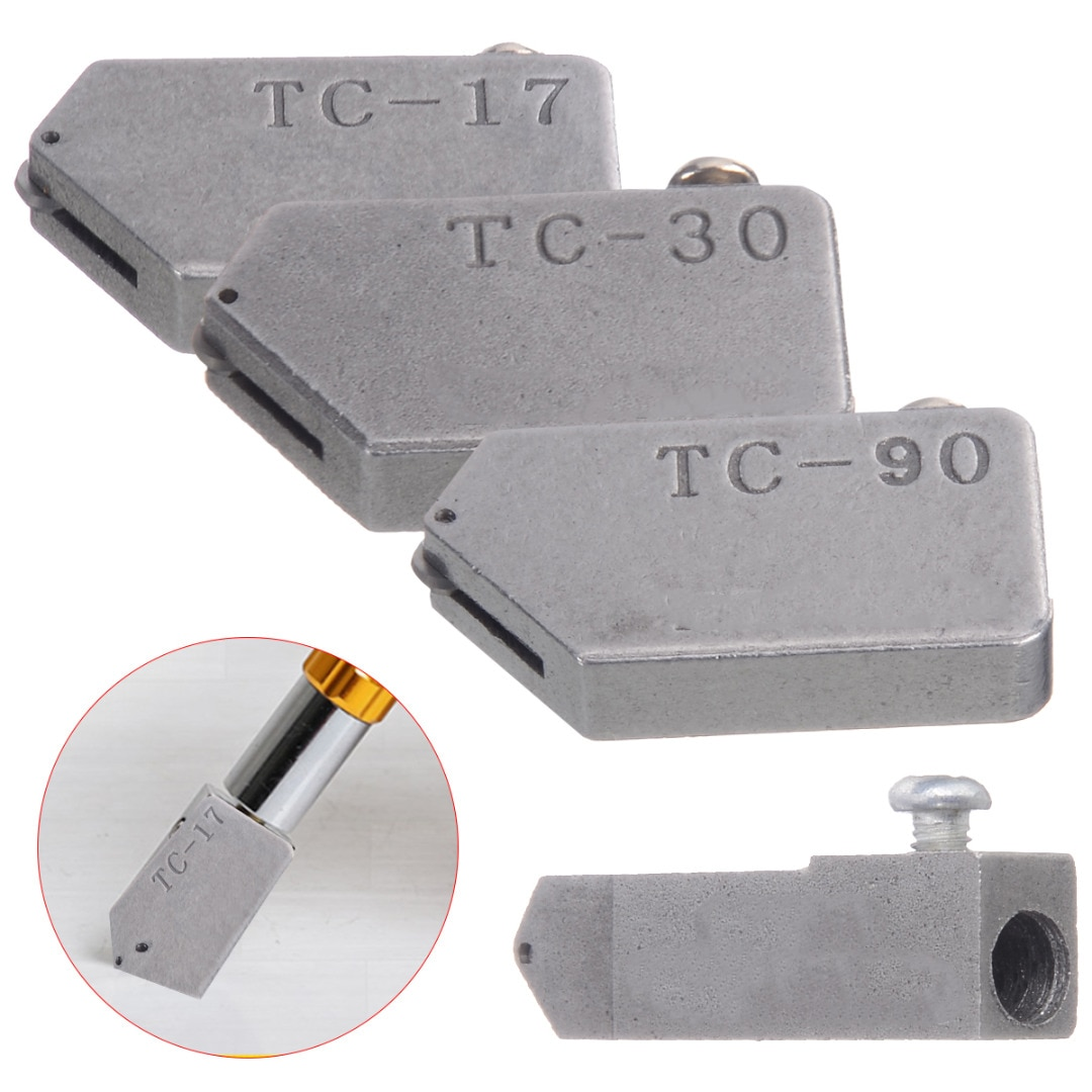 4 sizes new high strength and hardness glass straight cutting tile cutter head glass cutter replacement tc 17 tc 30 tc 10 tc 90 4 Different Sizes Glass Cutter Head Alloy Glass Straight Cutting Tile Cutter Head Replacement TC-17 TC-30 TC-10 TC-90
