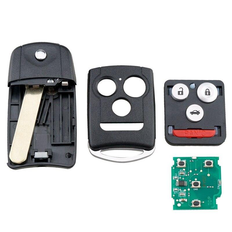 Llave inteligente para control remoto de coche 3 + 1 botones control remoto de coche apto para Acura TSX 2009-2014 313,8 MHZ MLBHLIK-1T + 46 Chip