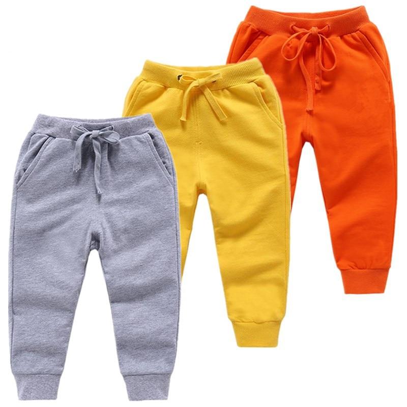 2020 varejo novo quente veludo calças para 2-10 yeas sólidos meninos meninas casuais esporte calças jogging enfant garcon crianças