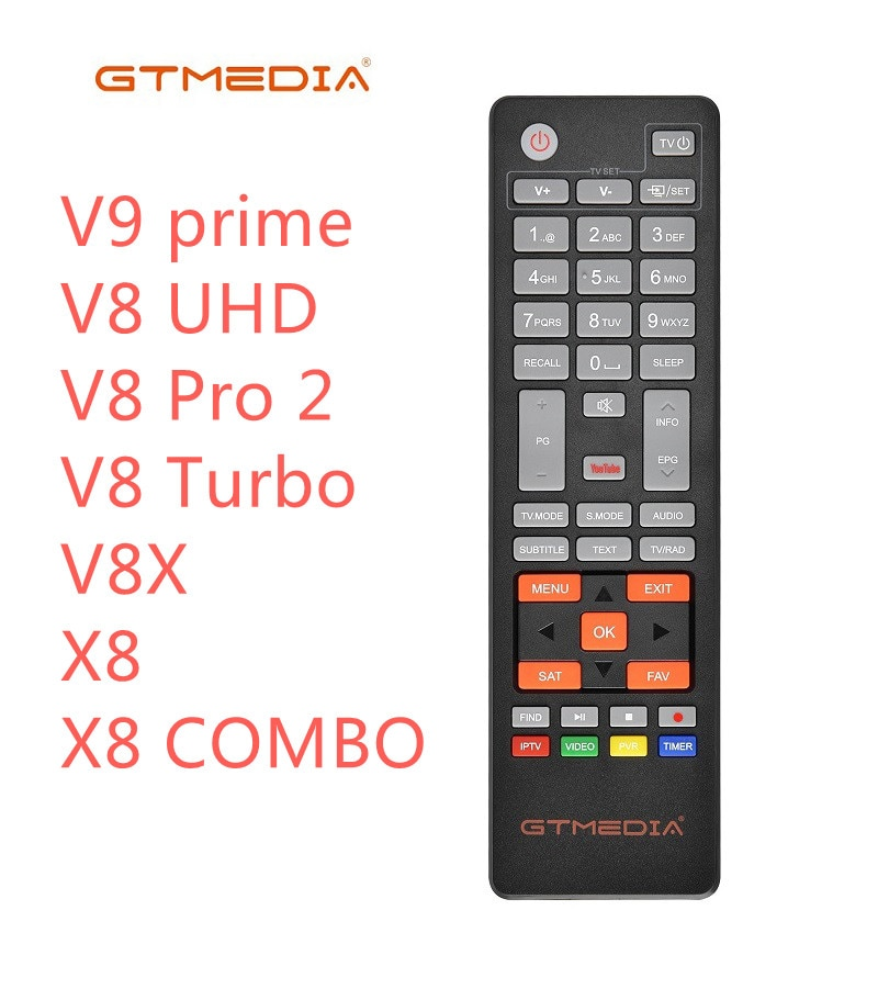 [Genuine]HD Satellite TV Receiver Remote Control for Gtmedia v8 UHD and freesat V7SHD V8 Series X8 C