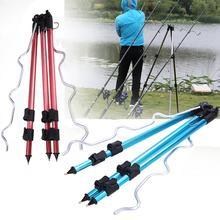 Aluminum Alloy Telescopic Fishing Rods Holder Portable Collapsible Fishing Tripod Bracket Stand Sea Fishing Pole Bracket