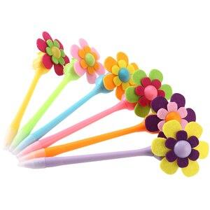 6pcs Mixed Colors Novelty Design Sunflower Windmill Decorative Pens Flower 0.7mm Pens