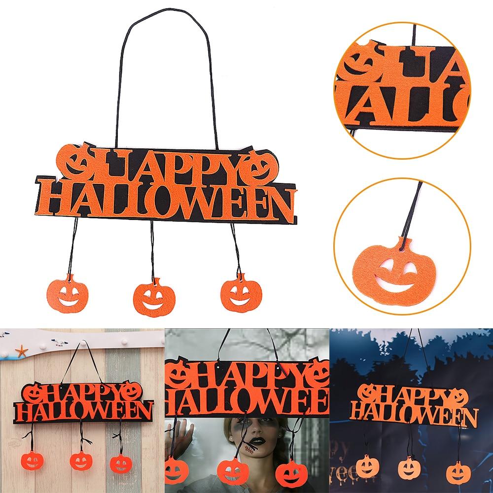 Decoración de fiesta de Halloween feliz colgante para HALLOWEEN etiqueta creativa ventana Placa de puerta Halloween calabaza tiras colgantes