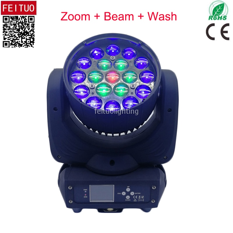 Nuevo anillo de Control Martin Mac Aura Zoom Lira 19x15w Led luz Wash con cabeza móvil RGBW 4IN1 Led haz de foco DMX luz de la etapa