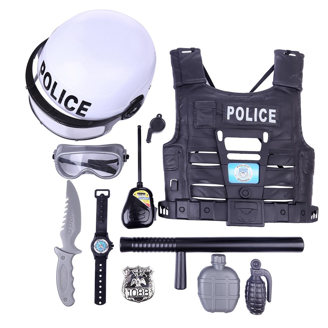 conjunto de brinquedos para criancas jogo popular de 11 pecas de simulacao de policial para meninos
