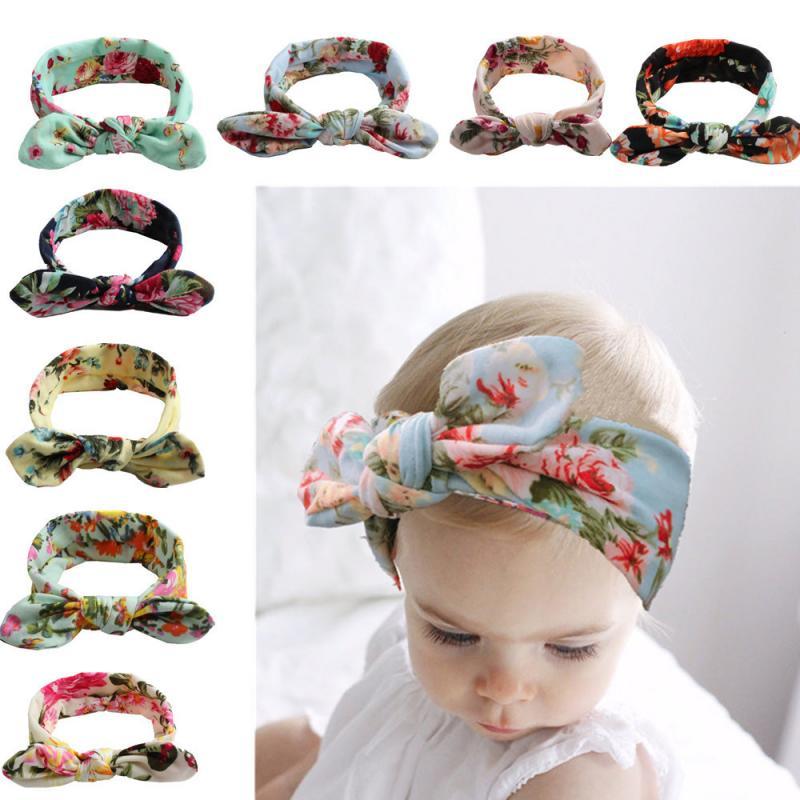 1 diadema elástica con lazo para bebé, para niñas, niños, turbante, accesorios Boho para el cabello TXTB1