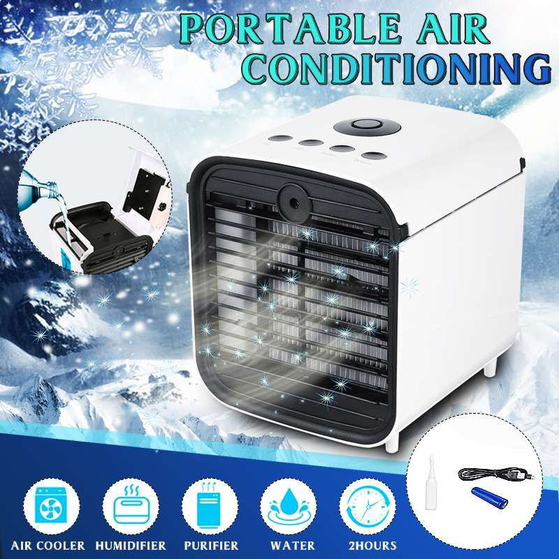 Mini aire acondicionado portátil, ventilador de refrigeración USB, purificador de aire para el hogar o la habitación del coche