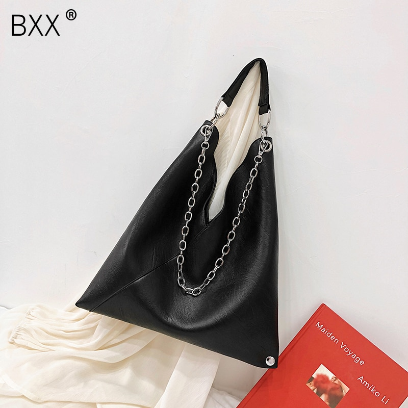 [BXX] Women Single Shoulder Crossbody Bag All-match Flap 2021 Summer Female Large Capacity Soft Leather Handbag Chain Tote HF217