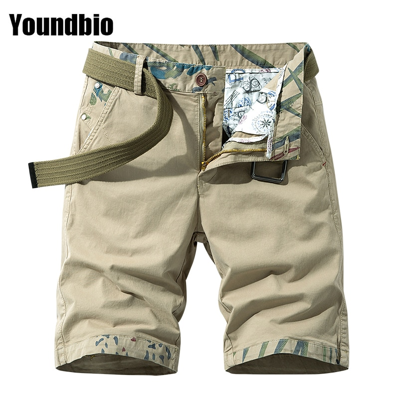 SUMMER 2021NEW Trend Casual Mens Shorts Cargo Man Loose Work Male Military Shorts Large Size Overall