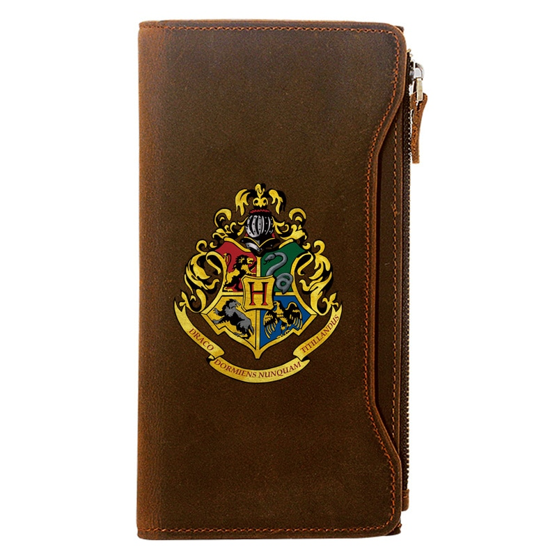 Classic Vintag  Printing Genuine Leather Wallet Men Long Purse With Phone Bag Zipper Card Holder Clutch недорого
