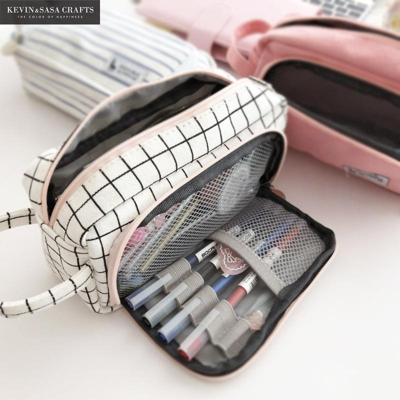 20 Colors Large Capacity Pencil Case Kawaii Pencilcase School Pen Case Supplies Pencil Bag School Box Pencils Pouch Stationery