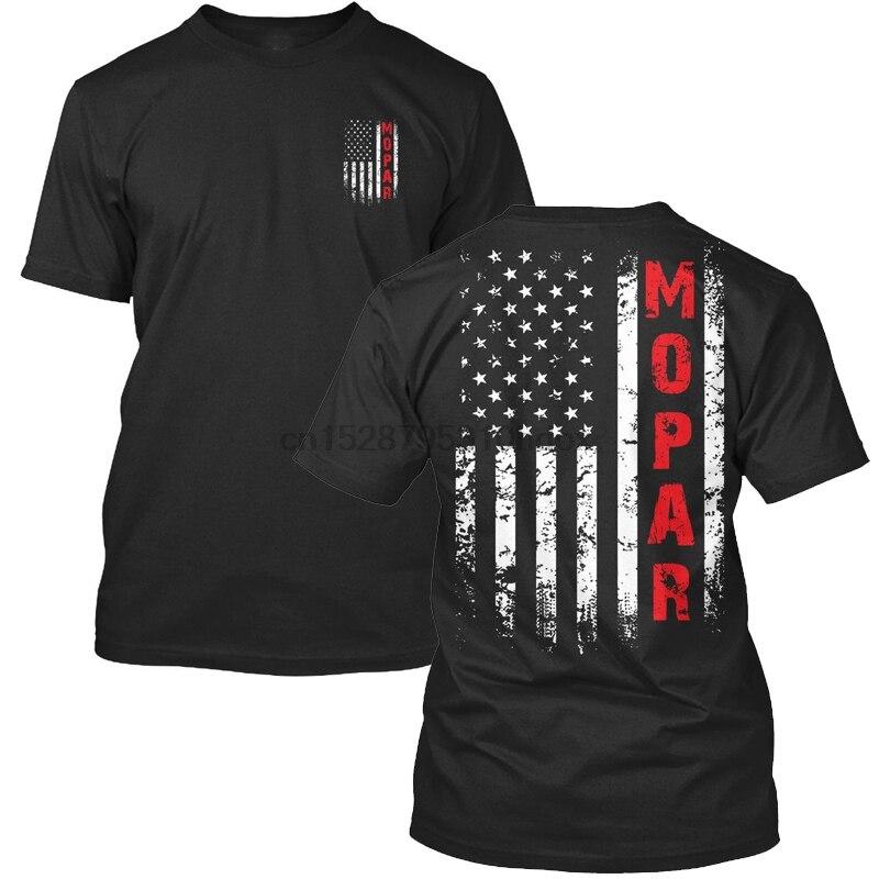 Mopar Us bandera camiseta hombres dos lados algodón Casual Tee Usa talla S 3Xl