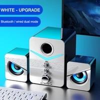 computer bluetooth compatible audio desktop wired desktop notebook impact usb mobile speaker subwoofer speakers for laptop pc