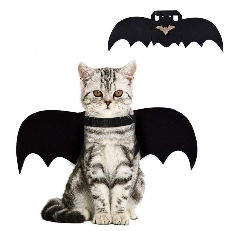 Halloween Pet Dog Cat Bat Wing Cosplay Prop Halloween Bat Fancy Dress Costume Outfit Wings Cat Funny Costume Supplies Dropship·