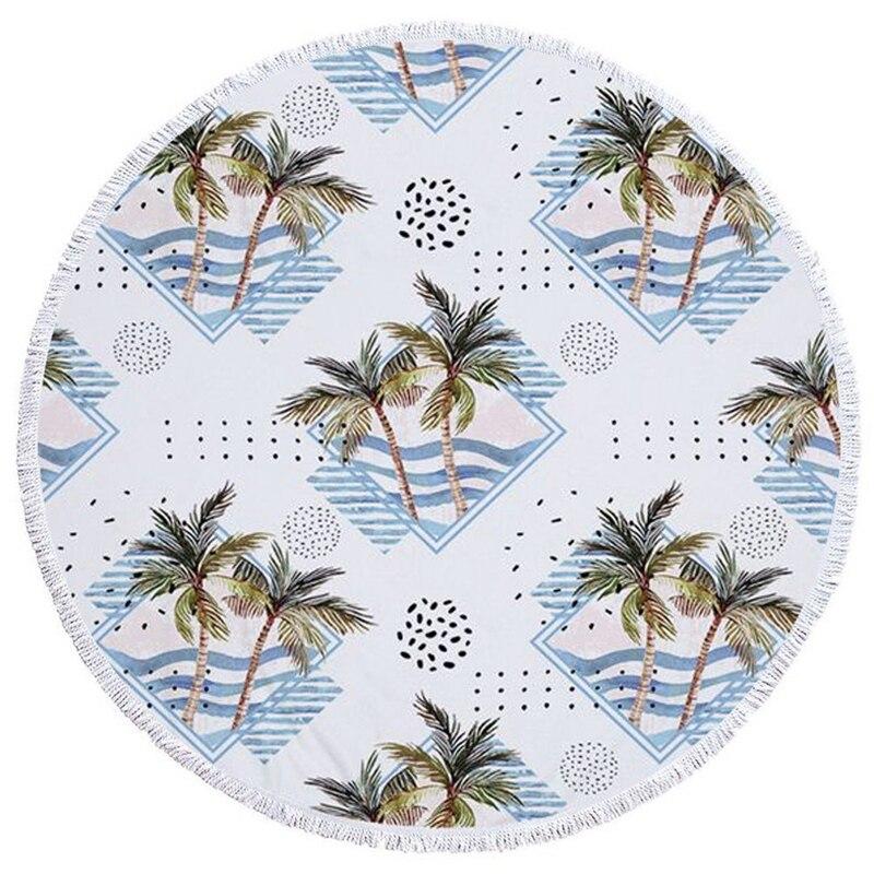 Toalla de playa de microfibra de la serie dos Cocos con cordón, mochila, bolsa, manta deportiva de Yoga, Toalla de baño para natación