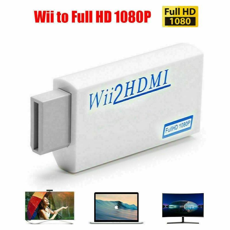 Adaptador portátil Mini Full HD 1080P compatible con Wii, convertidor Wii2 de...