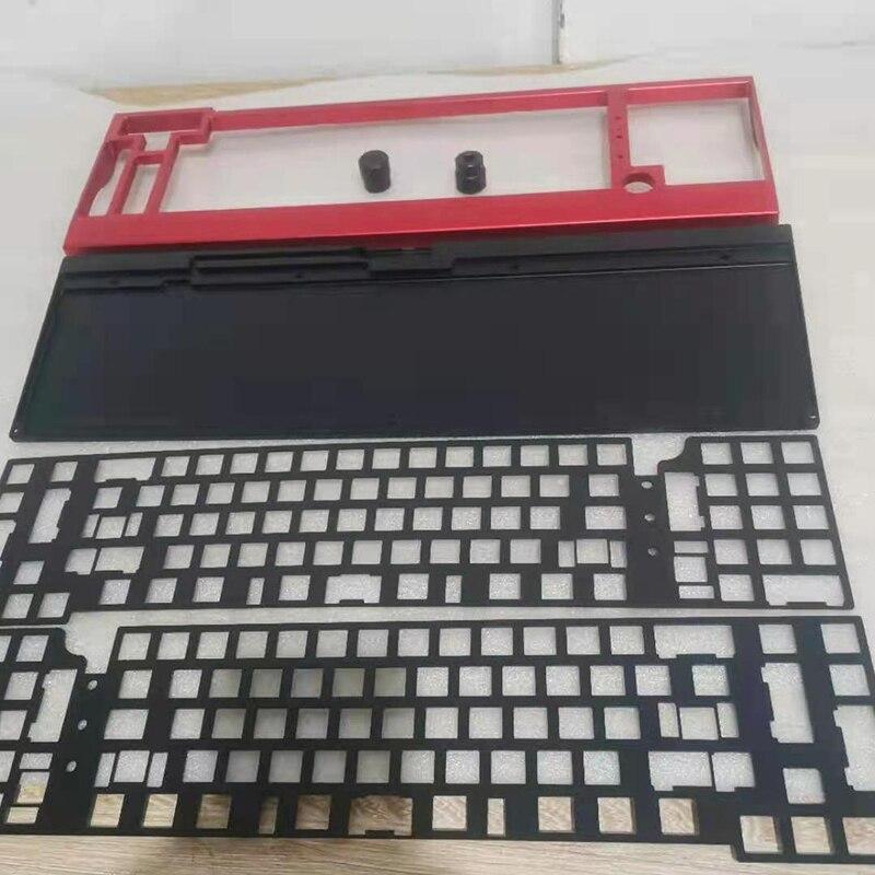 لوحة مفاتيح نحاسية ألومنيوم ميكانيكية مخصصة بتحكم رقمي باستخدام الحاسوب مقعد 40% 75% 65% GH60 GK61 GK64 108/104/87 حافظة مفاتيح ولوحة وزن