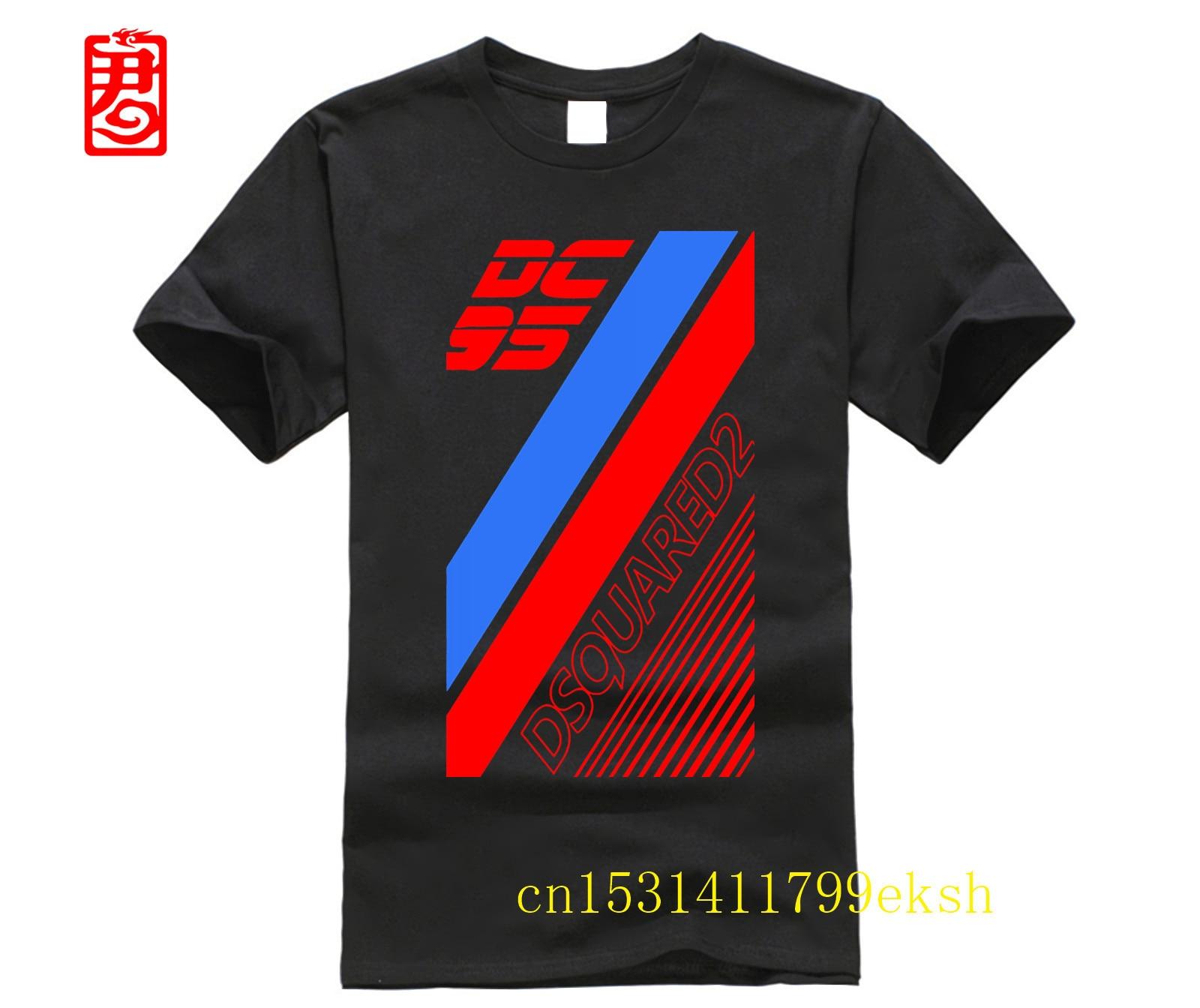 Camiseta para hombre DSQ2, camiseta impresionante de manga corta, Hombre estampado básica de 100% de algodón, camisetas impresas personalizadas, camiseta para hombre