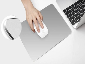 XGZ New ultra-thin and elegant non-slip Metal Aluminum Mouse pad waterproof Fast and Accurate Control for Office Home game