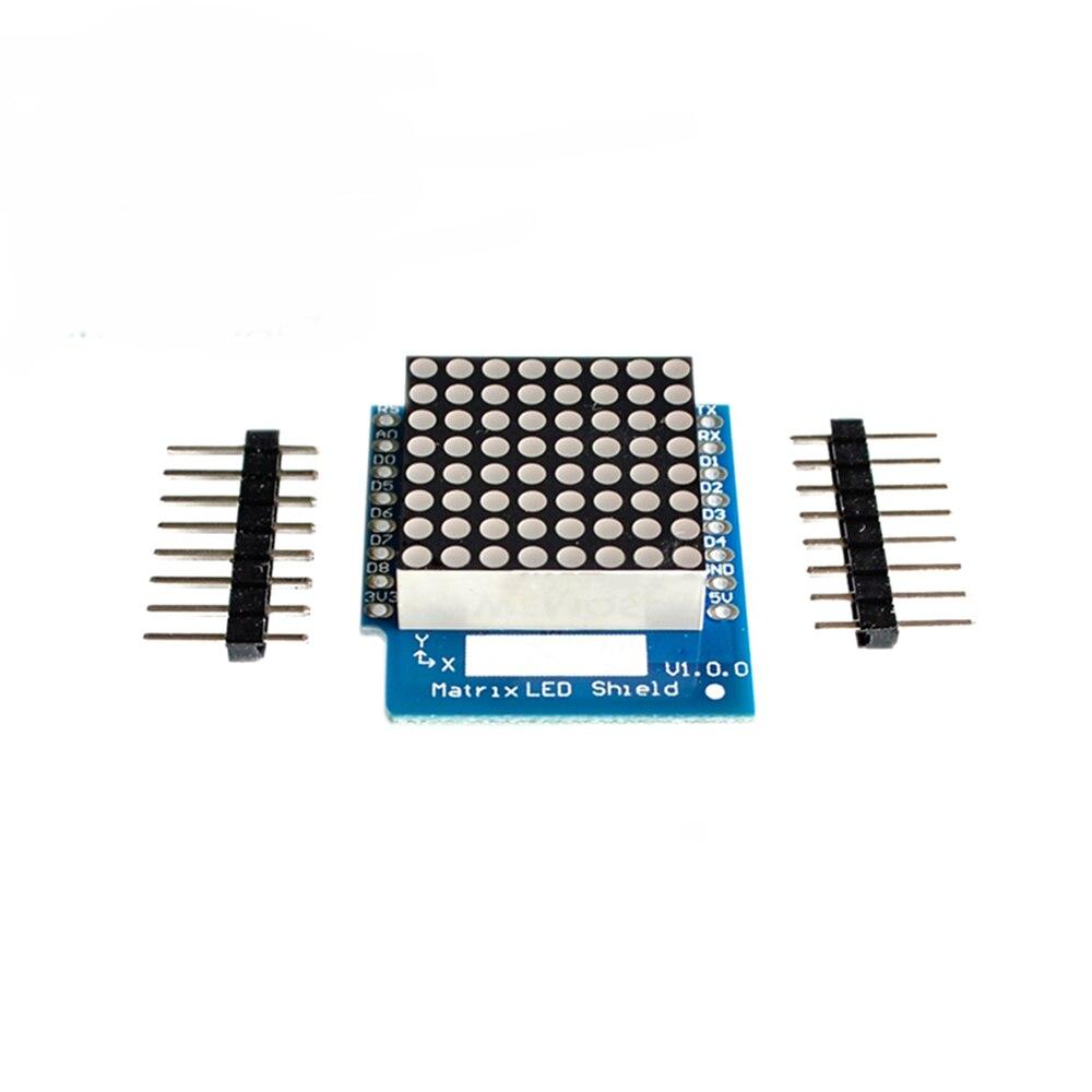 Matryca LED Shield V1.0.0 dla WEMOS D1 Mini cyfrowy wyświetlacz LED moduł kontrolera sygnału wyjściowego 8X8 Dot wyświetlacz matrycy