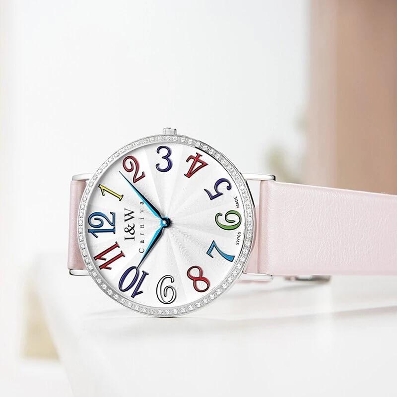 CARNIVAL Top Brand Ladies Fashion Rose Gold Watch Woman Luxury Waterproof Ultra Thin Sapphire Quartz Wristwatch Relogio Feminino enlarge