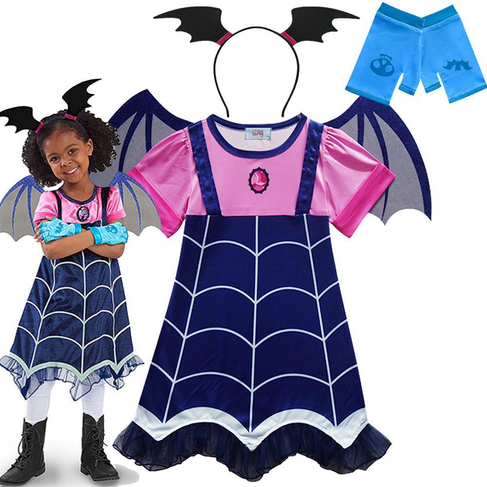 Детские костюмы Vampirina, костюмы вампира, косплей, платья для девочек, карнавальные вечерние мы для Хэллоуина, маскарадные костюмы для девочек