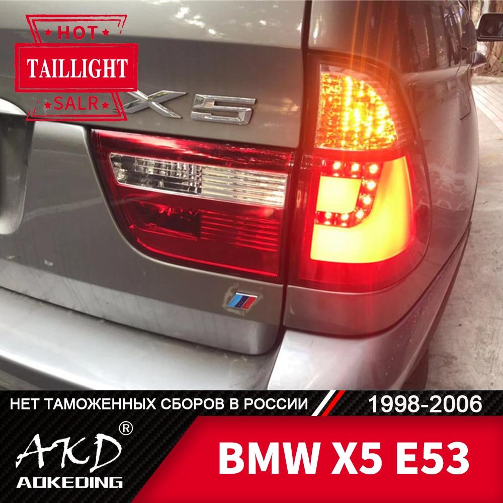 Faro trasero para coche BMW X5 1998-2006 E53 x 5 luces traseras LED antiniebla luz diurna DRL Tuning Car accesorios