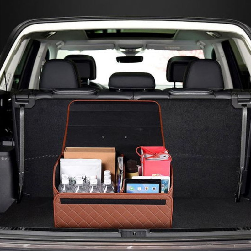 Car Trunk Storage Box PU Leather Four Color Size S M L Portable Foldable Large Capacity Storage Organizer Auto Accessories