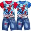 Çocuk Boys yaz örümcek adam çocuklar giyim setleri bebek çocuk T Shirt kot şort yürümeye başlayan erkek kot pantolon spor giysileri seti