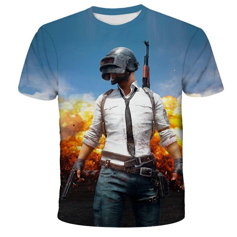Футболка PUBG, игровая футболка, футболка для мальчиков, Популярная Игровая одежда для детей, детская одежда, модная летняя футболка для мальч...