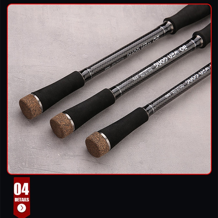 Carbon MH Ultralight Travel Casting Spinning Rod