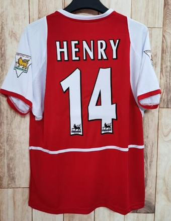 02-03 ArsenalES oxígeno casa camisa No 14 Henry / No 10 Bergkamp...